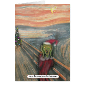 How The Munch Stole Christmas Greeting Cards