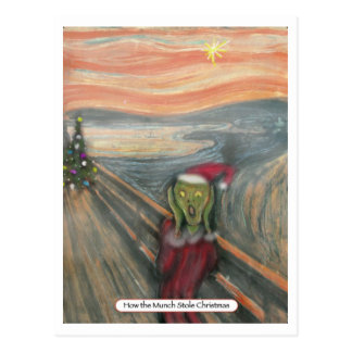 How the Munch Stole Christmas Postcard