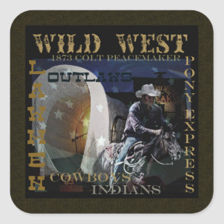 How the West Was Won gifts Square Sticker