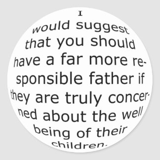 How the White House justifies. Classic Round Sticker