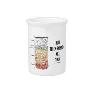 How Thick-Skinned Are You? (Epidermis Skin Layers) Beverage Pitcher