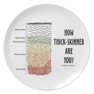 How Thick-Skinned Are You? (Epidermis Skin Layers) Melamine Plate