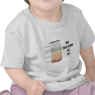 How Thick-Skinned Are You? (Epidermis Skin Layers) Tee Shirt