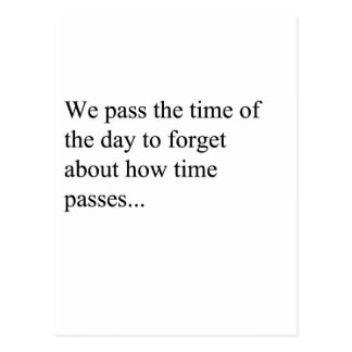 How Time Passes Post Cards