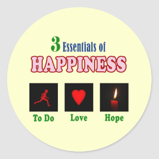 How to achieve happiness classic round sticker