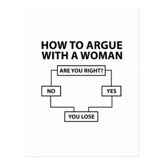 How To Argue With A Woman Postcard