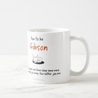 How to be a cat: Gibson Coffee Mug