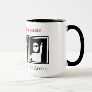 How to be a pirate mug
