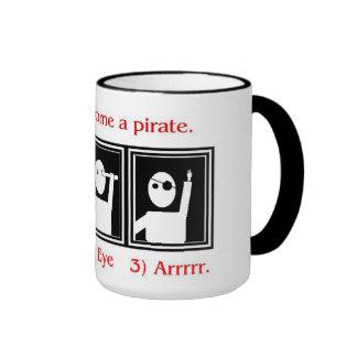 How to be a pirate mug mug