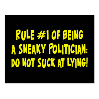 How to be a sneaky politician 1 postcard