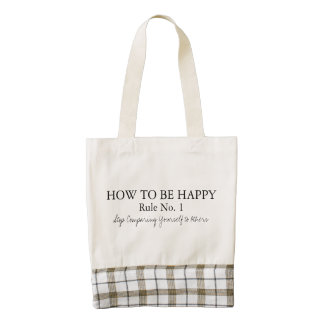 How to be happy Stop Comparing Yourself to Others Zazzle HEART Tote Bag
