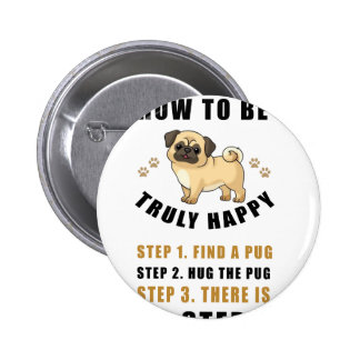 how to be truly happy step  find pinback button