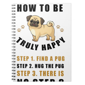 how to be truly happy step  find spiral notebook
