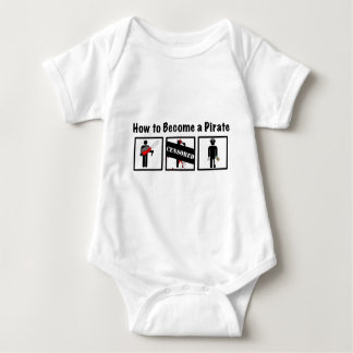 How to Become a Pirate Baby Bodysuit