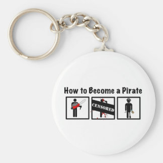 How to Become a Pirate Keychain
