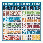 How To Care For Extroverts (Bold) Poster