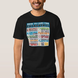 How To Care For Extroverts (Bold) T-shirt