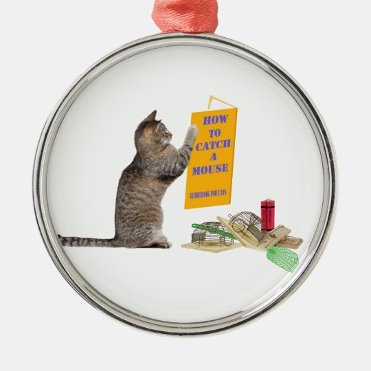 How to catch a mouse Round Ornament