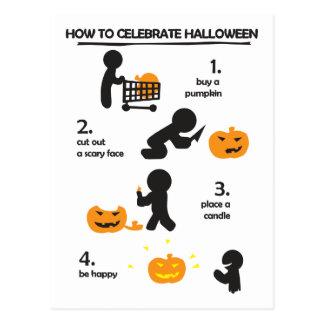 How to celebrate Halloween Jack-o Postcard