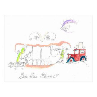 How to Clean Teeth Postcard