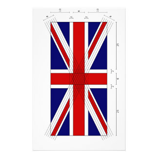 How to draw a Proper Union Jack. Stationery