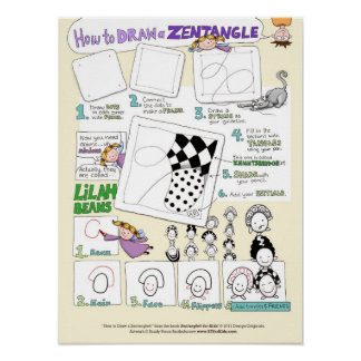 How to Draw a Zentangle® - large poster