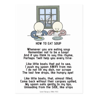 How to Eat Soup - The Goops Postcard