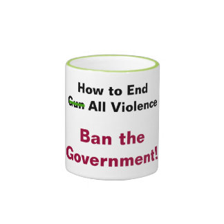 How to End Gun Violence Ringer Coffee Mug