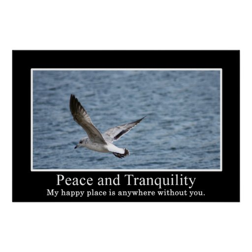 How to find peace and tranquility poster