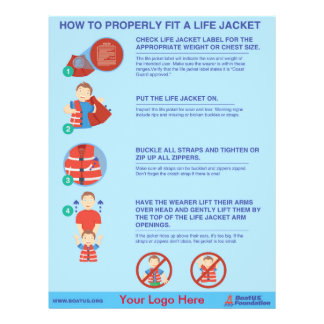 "How To Fit a Life Jacket Flyer - 8.5"" x 11"""