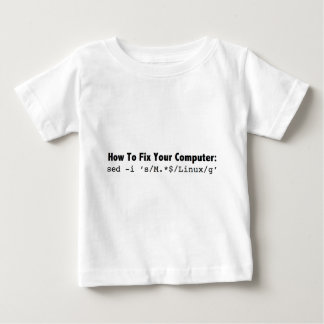 How To Fix Your Computer_black.png Baby T-Shirt