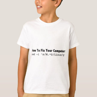 How To Fix Your Computer_black.png T-Shirt