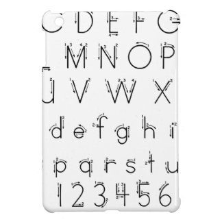 How to form your letters - Alphabet handwriting Case For The iPad Mini