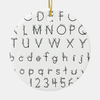 How to form your letters - Alphabet handwriting Ceramic Ornament