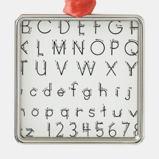 How to form your letters - Alphabet handwriting Metal Ornament