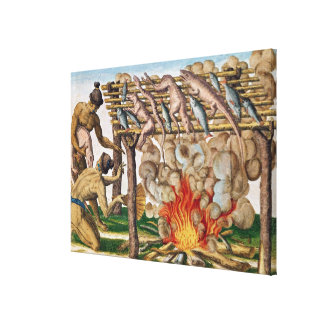 How to grill animals, from 'Brevis Narratio' Canvas Print