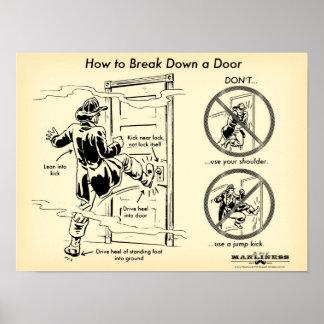 How to Kick Down a Door Print