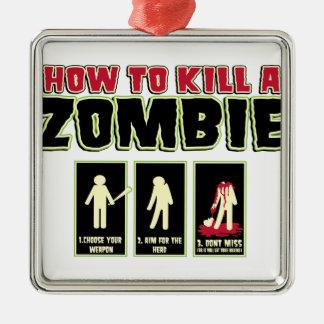 How to Kill a Zombie Christmas Tree Ornaments