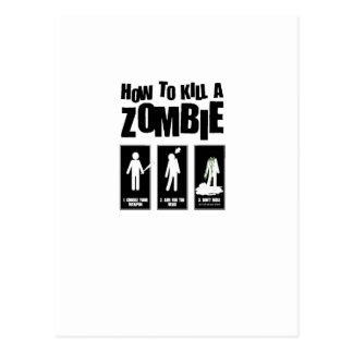 How to kill a ZOMBIE Postcard