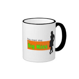 How to kiss lip ringer coffee mug