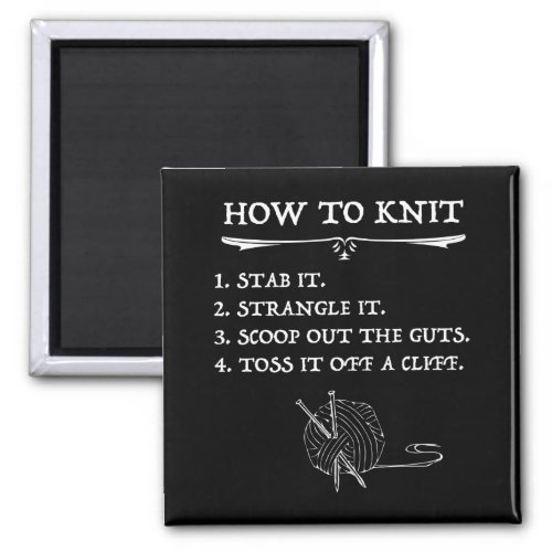 How To Knit Halloween Style Magnet