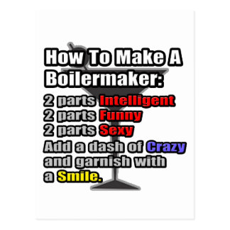 How To Make a Boilermaker .. Funny Postcard