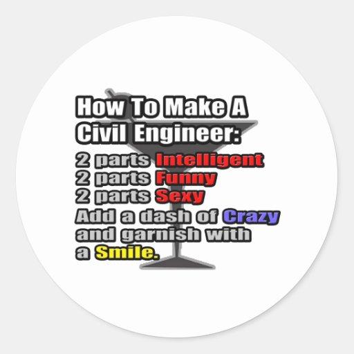 How To Make a Civil Engineer Round Sticker