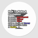 How To Make a Firefighter Round Sticker
