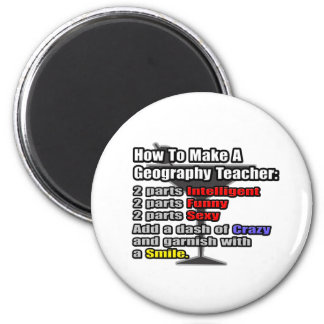 How To Make a Geography Teacher 2 Inch Round Magnet