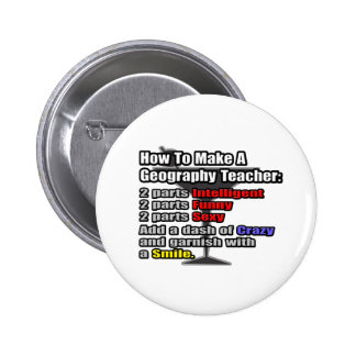 How To Make a Geography Teacher Pinback Button