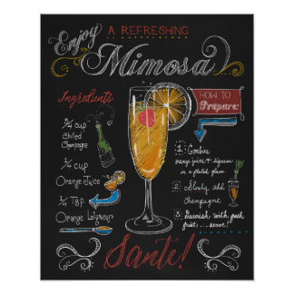 How to Make a Mimosa Chalkboard Poster