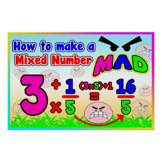 How to make a Mixed Number MAD = Anchor Chart Poster