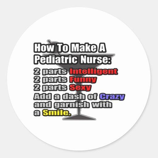 How To Make a Pediatric Nurse Round Stickers