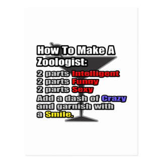 How To Make a Zoologist Postcards